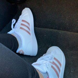 Addidas cloudfoam stripe sneakers